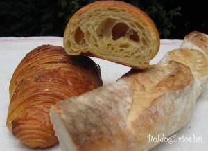 Croissant a kínpadon