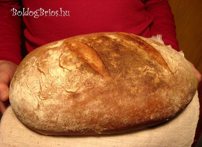 Falusi fehér kenyér recept