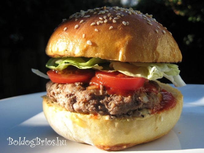 Hamburger zsemle recept