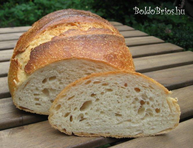 Cserepes fehér kenyér recept