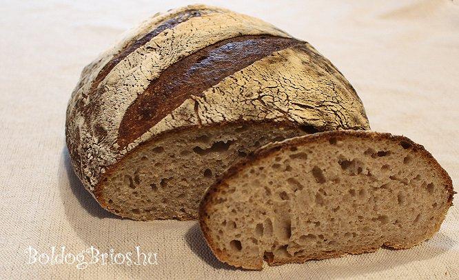 Félbarna kenyér recept