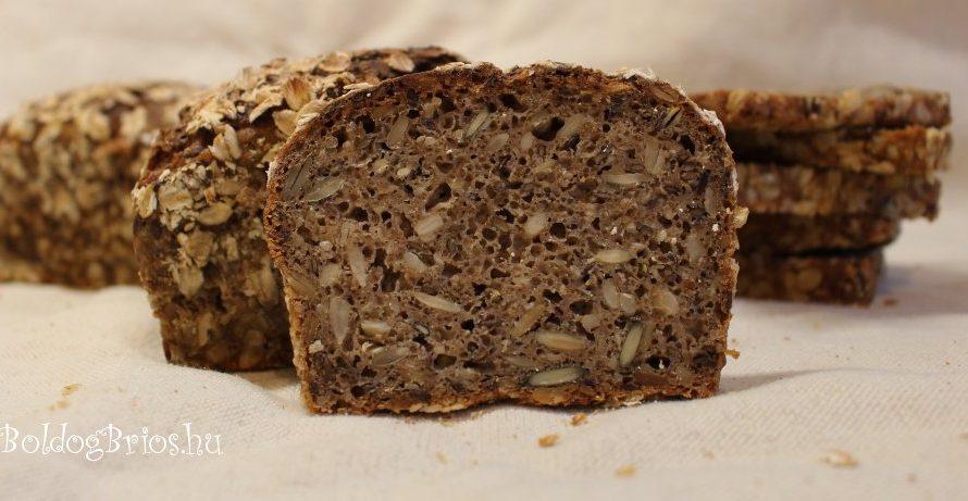 Sokmagvas kovászos rozskocka recept